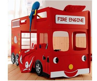 Fire Engine Bunk Bed Inclu Mattress 900 1900mm Kids Furniture